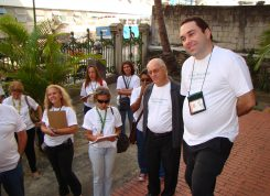 O museólogo André Angulo, durante visita do Circuito Sítios Históricos da República