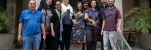 Da esq para dir: Clóvis Nery (IPB), Marcella Coelho (Inepac), Luiz Edmundo Costa Leite (AATH), Virginia Rigot-Muller (Soluções Urbanas), Raquel Vital Braz (Inepac), Lucienne Figueiredo (Superintendência de Museus), Mariana Várzea (Superintendência de Museus), Elaine Carrilho (MCBC), Alexandre Martins (IPB), Marcos Brum Lopes (MCBC)