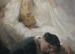 Morte de Auguste Comte (detalhe), por Eduardo de Sá – acervo da Igreja Positivista do Brasil